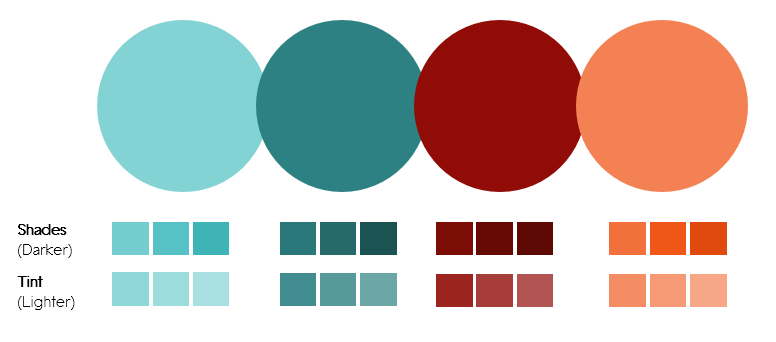 Color Palette 4- Teal and Red