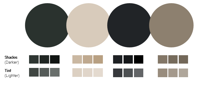 Color Palette 5- Dark Green and Tan