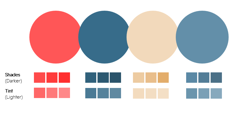 Color Palette 7- Rose and Blue