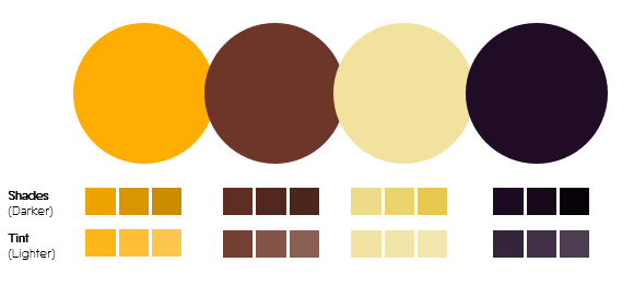 Color Palette 9- Gold, Brown and Purple