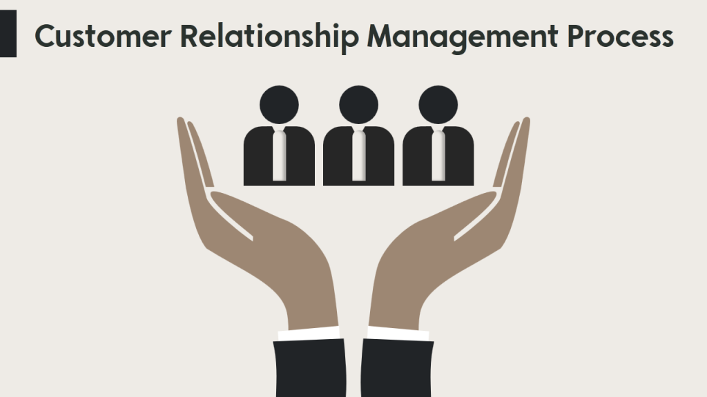 Customer Relationship Management Process uses sober colors