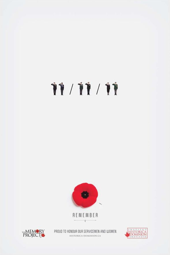 DDB Canada print ad for The Memory Project