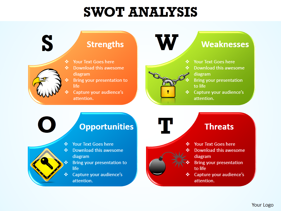 learn to create swot analysis icons in powerpoint [powerpoint, Modern powerpoint