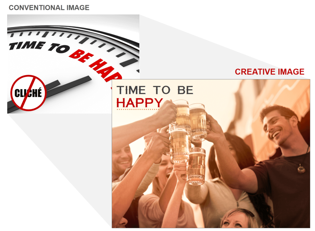 Happy Time With Beer Creative Stock Image