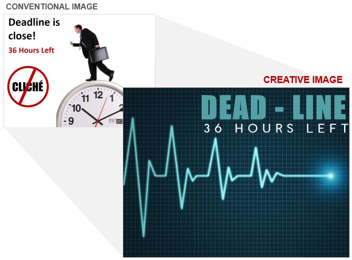 Heartbeat Line Creative Visual for Deadline Stress