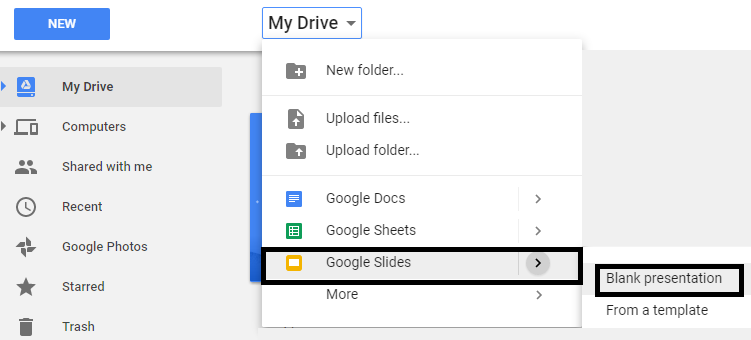 Open Google Slides