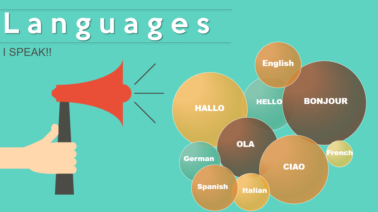 Tell them you are a polyglot