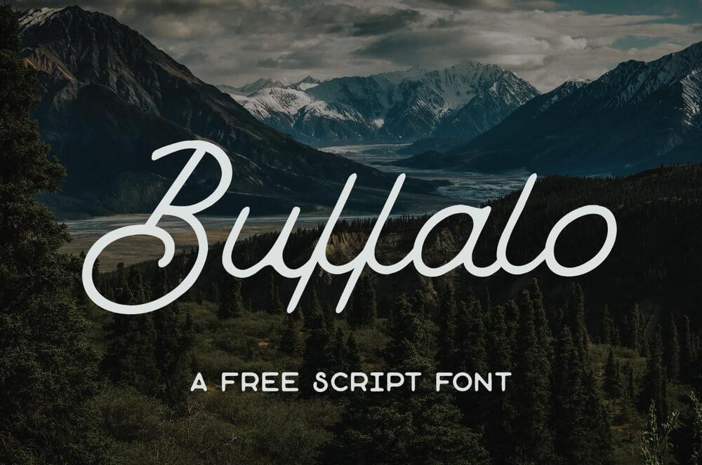 Buffalo- Free Font Handwritten