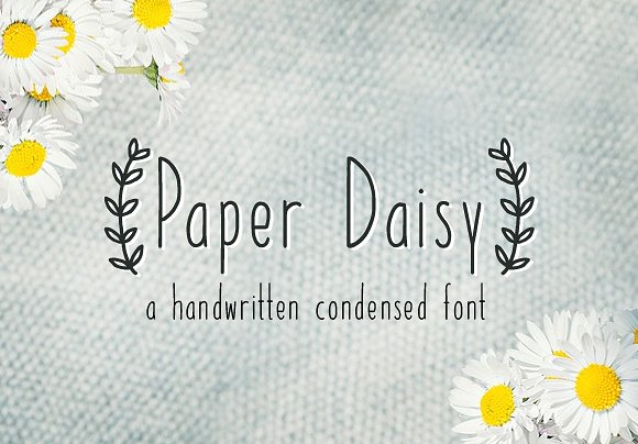 Paper Daisy Handwritten Font