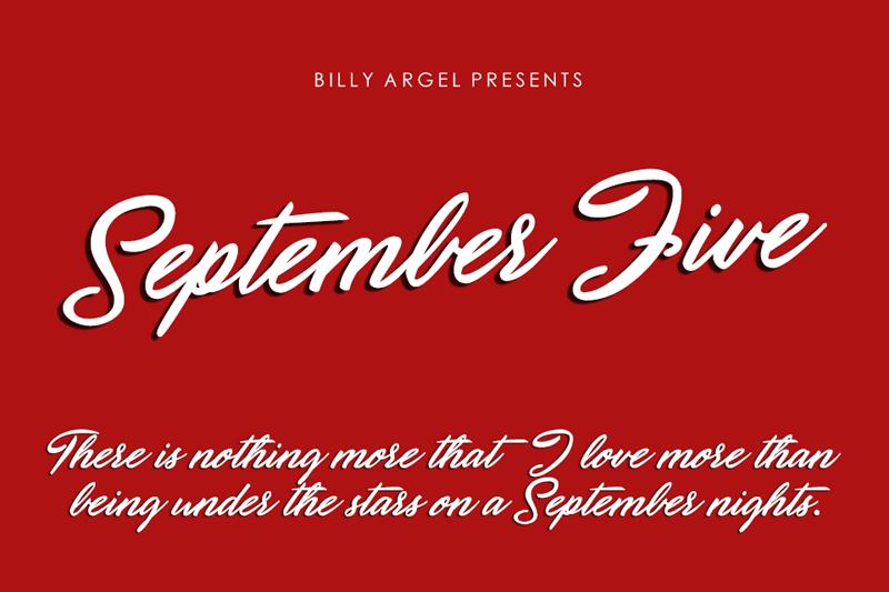 September Five Font Free