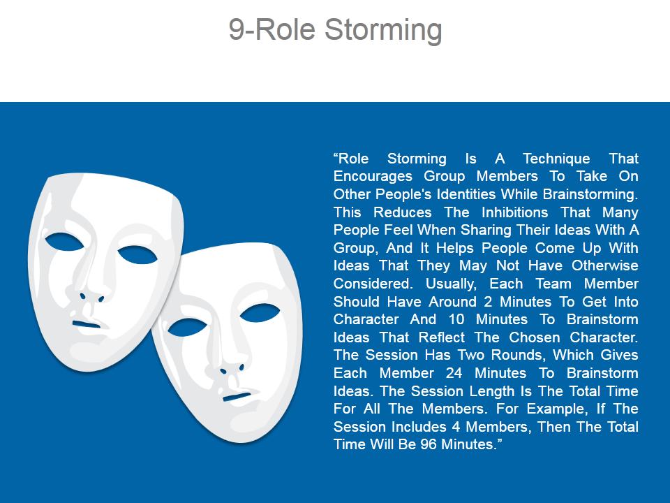 Role Storming Technique