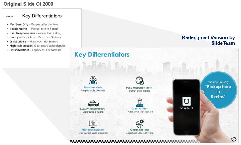 Key Differentiators Slide Redesigned for Investor Deck