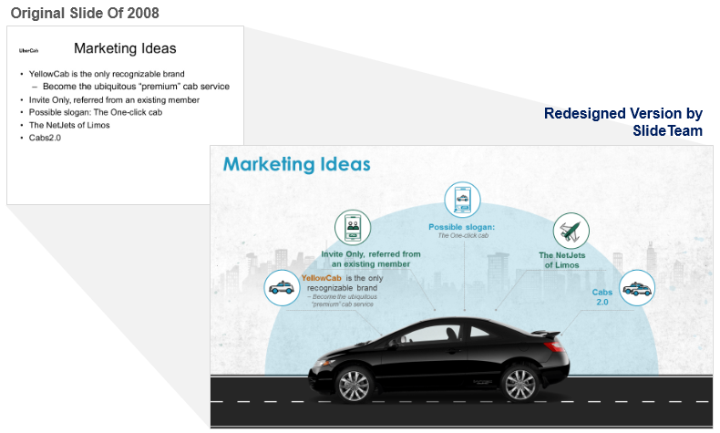 Marketing Slide Redesigned for Startup Pitch Deck
