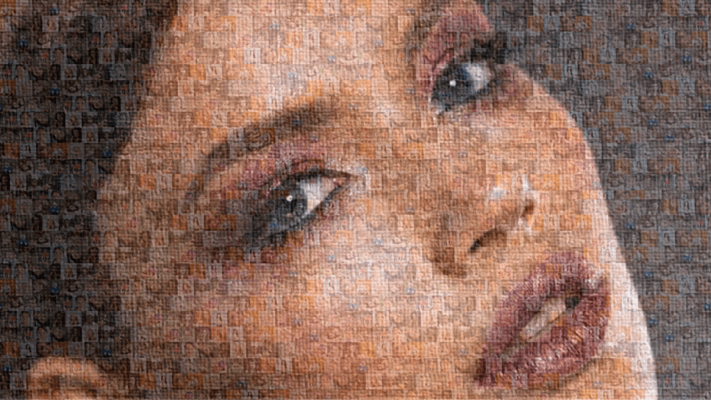 how to create a mosaic picture