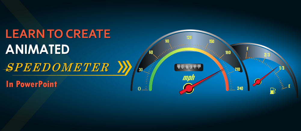 learn to create animated speedometer in powerpoint