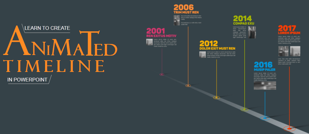 learn to create animated timeline in powerpoint in minutes