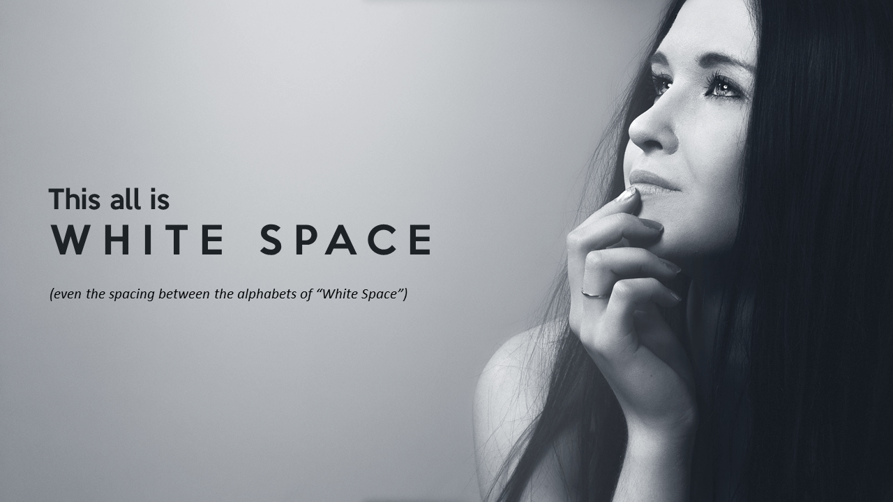 White space in design composition
