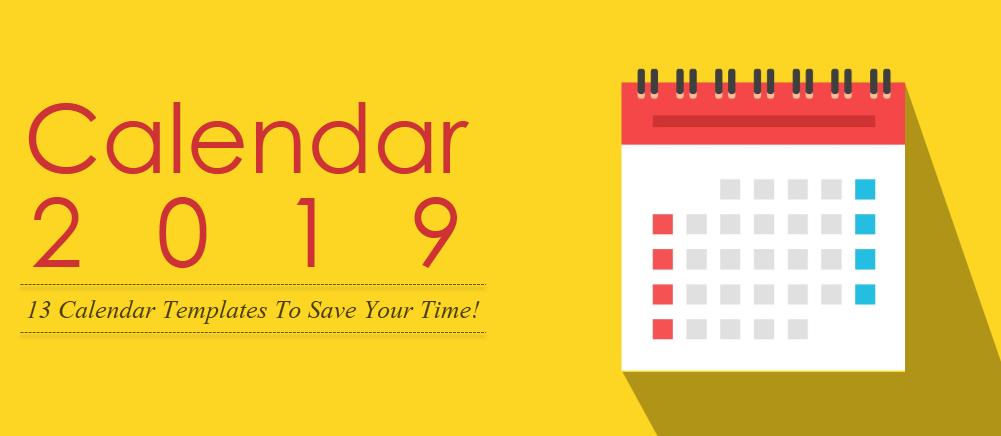 2019 calendar  13 powerpoint calendar templates