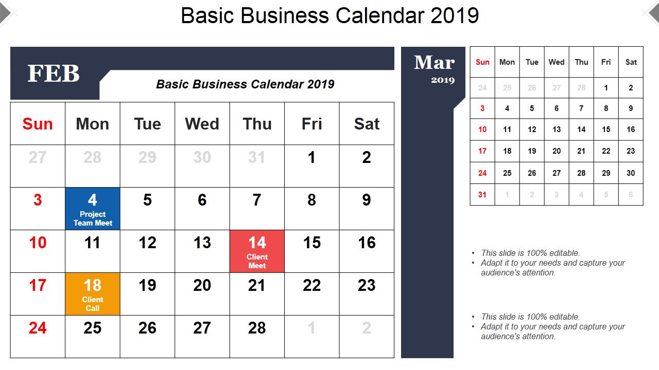 2019 Calendar 13 Powerpoint Calendar Templates The Slideteam Blog