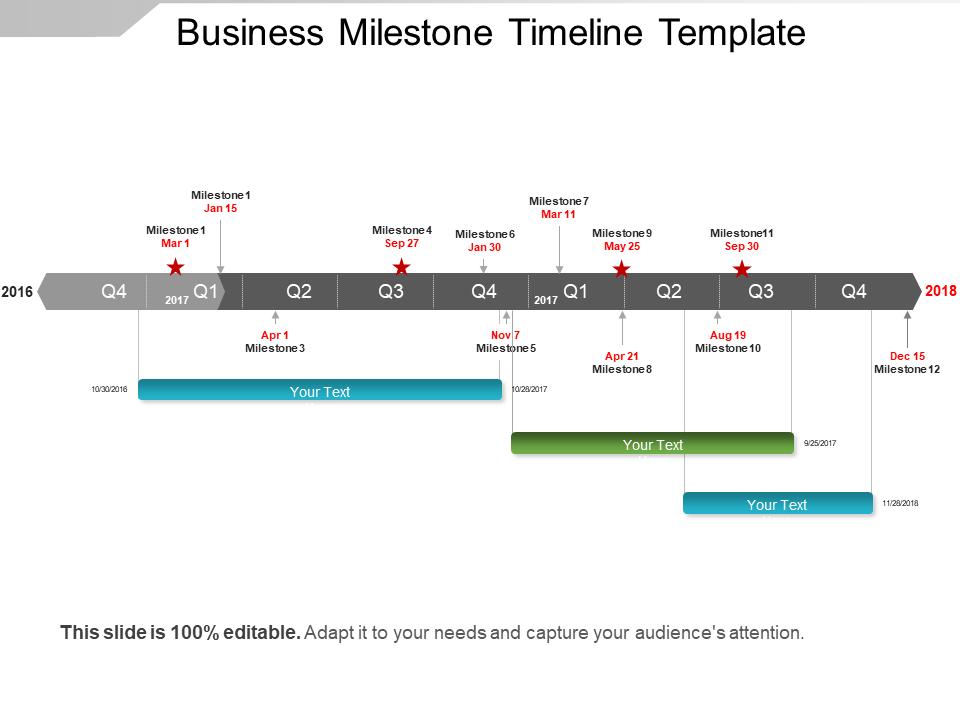 Business Milestone Timeline Template