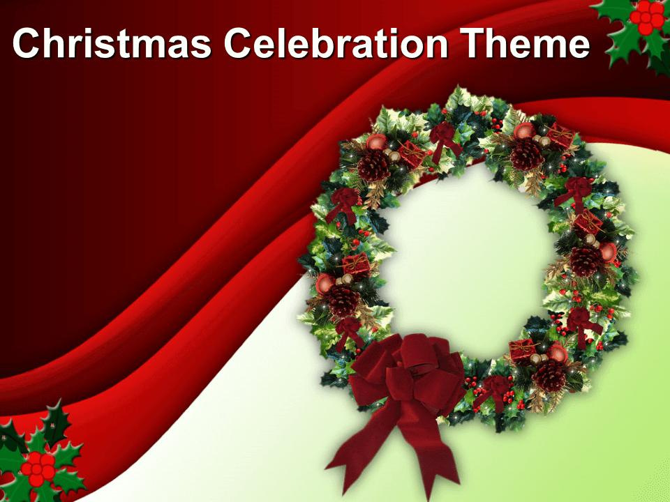 Christmas Celebration Free PowerPoint Theme