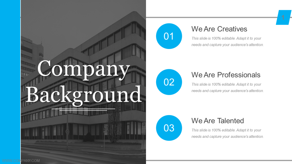 Company Introduction Free PowerPoint Template