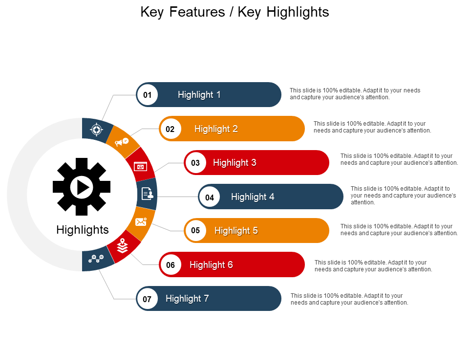 Features & Highlights PowerPoint Slide