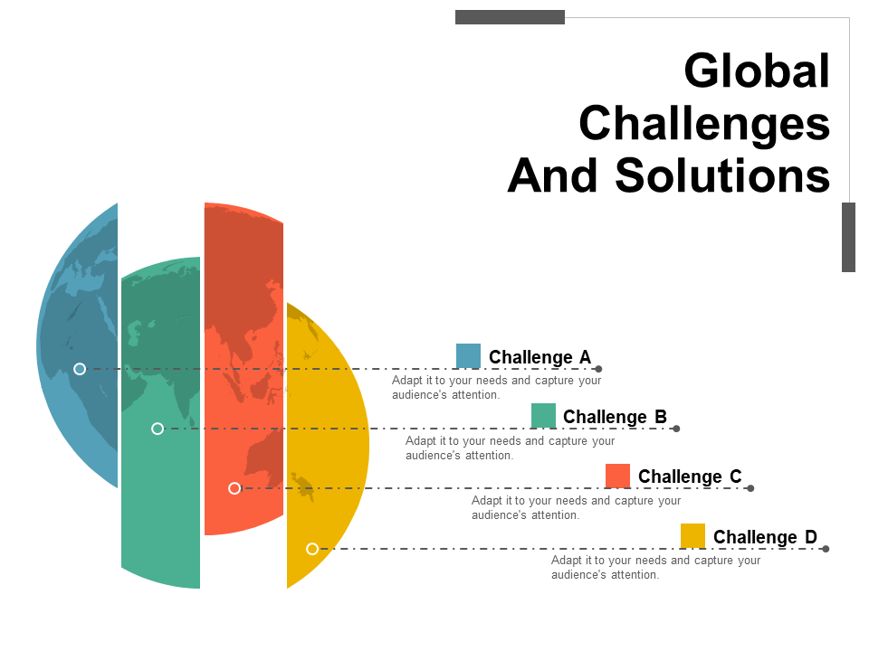 Global Challenges And Solutions Free PPT Template