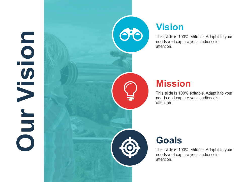 Vision Mission Goals PowerPoint Template