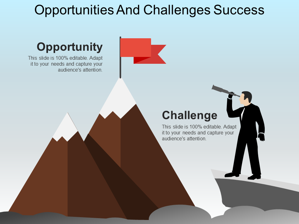 Opportunities and Challenges Success Free PPT Template