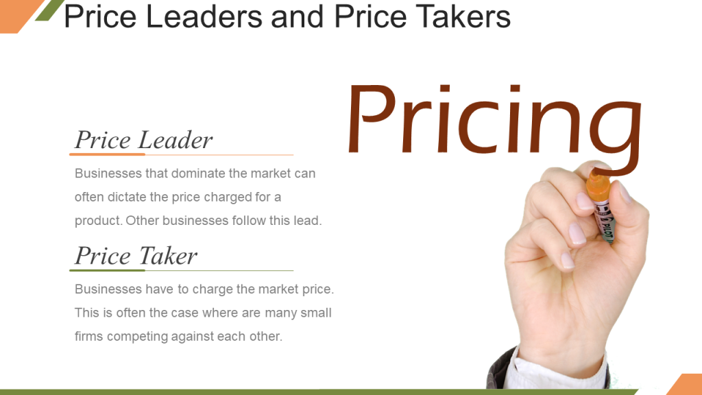 Price Leaders and Price Takers