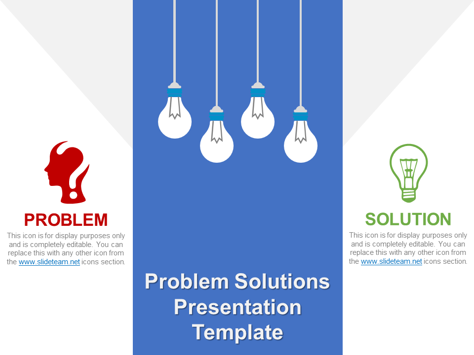 Problem Solution Free PPT Template