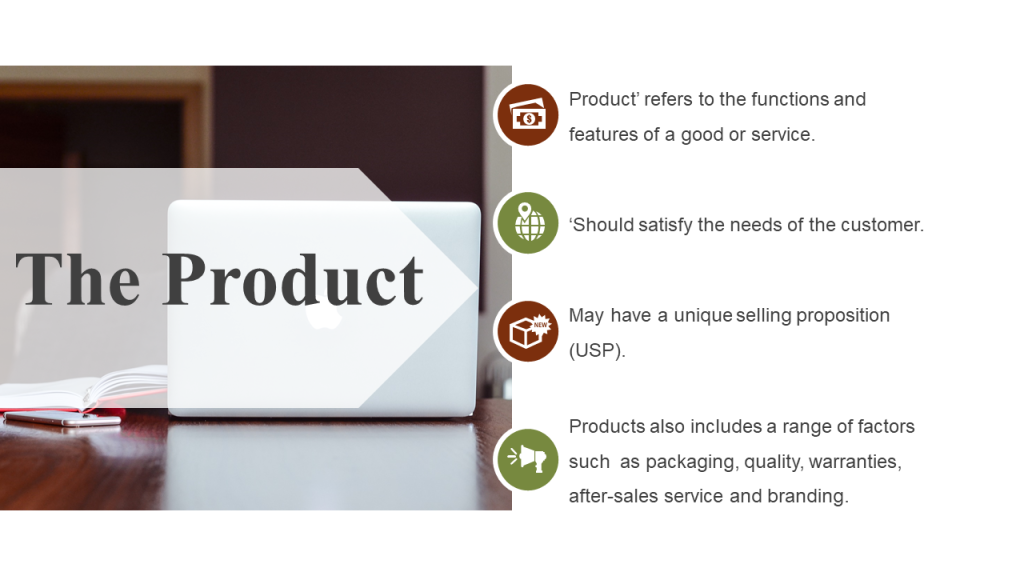 Product in Marketing Mix Presentation Slide