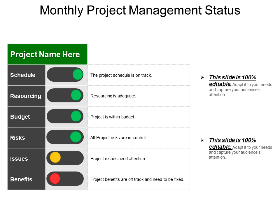 Project Management Free PowerPoint Template