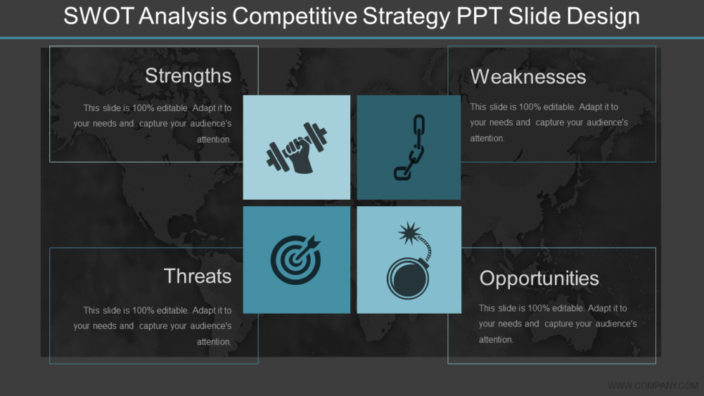SWOT Analysis PPT Slide Design