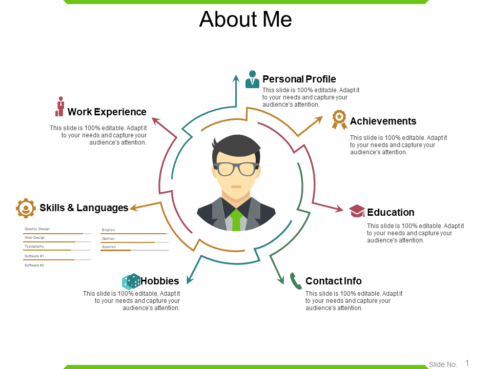 Self Introduction Free PowerPoint Template