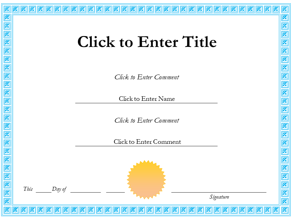 Certificate Certification PowerPoint Templates