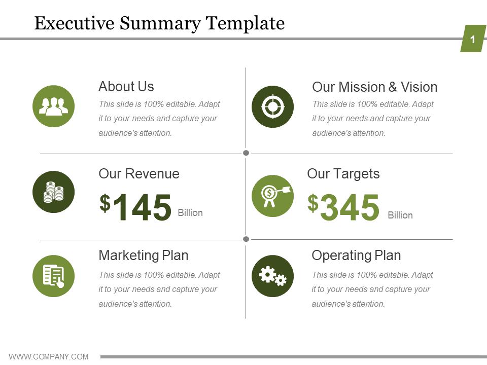 Executive Summary PowerPoint Templates