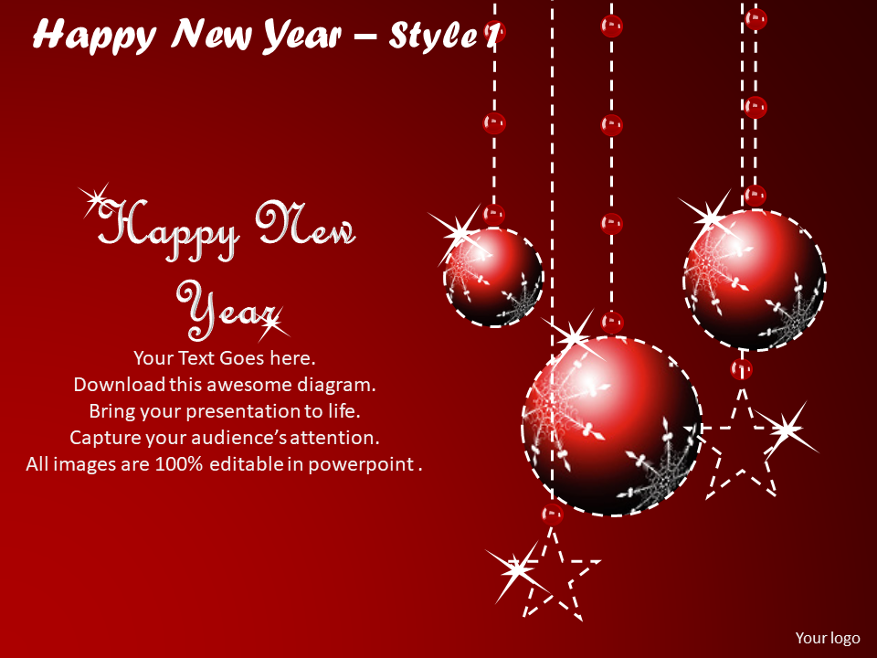 Happy New Year PowerPoint Slides