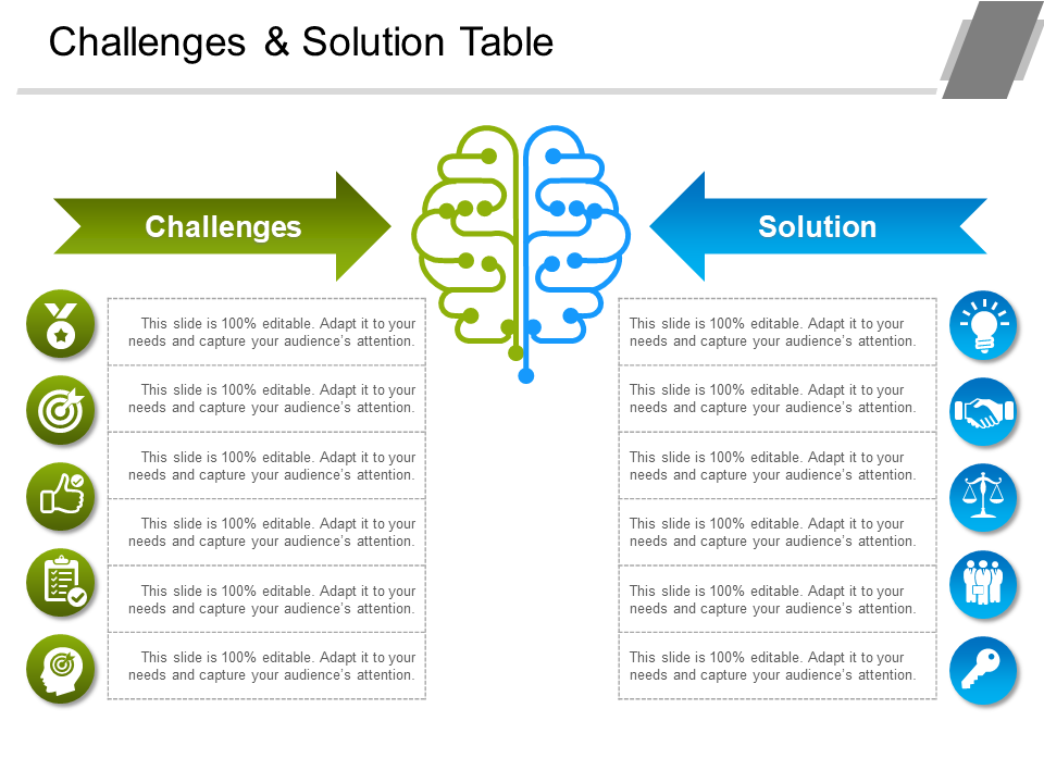 Problems and Solution PowerPoint Templates