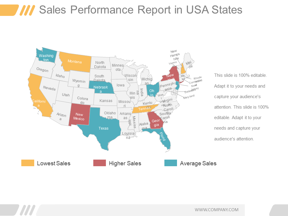 US Map PowerPoint Templates
