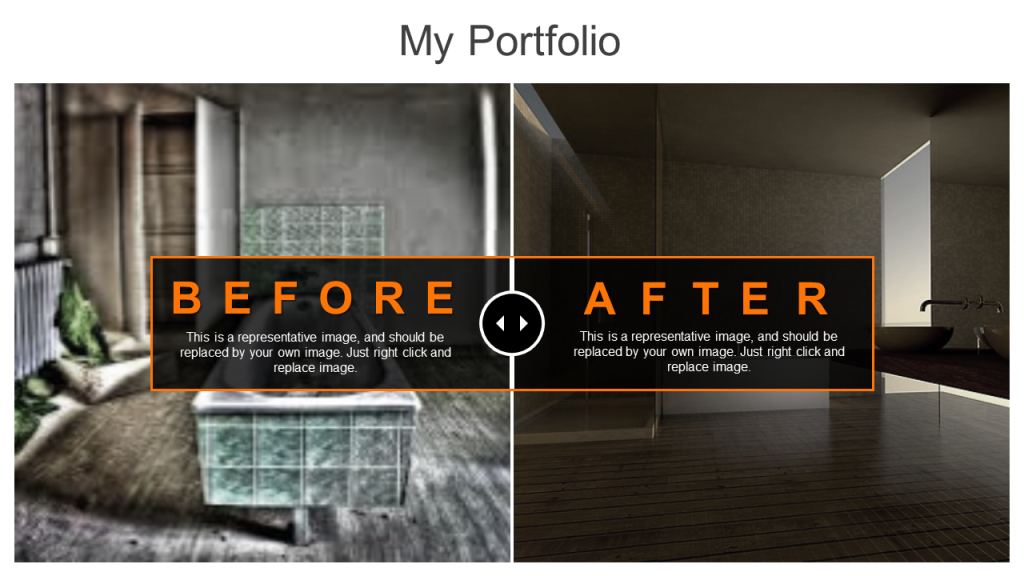 Before after for elevator pitch