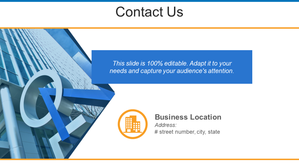 Contact Us PPT Template