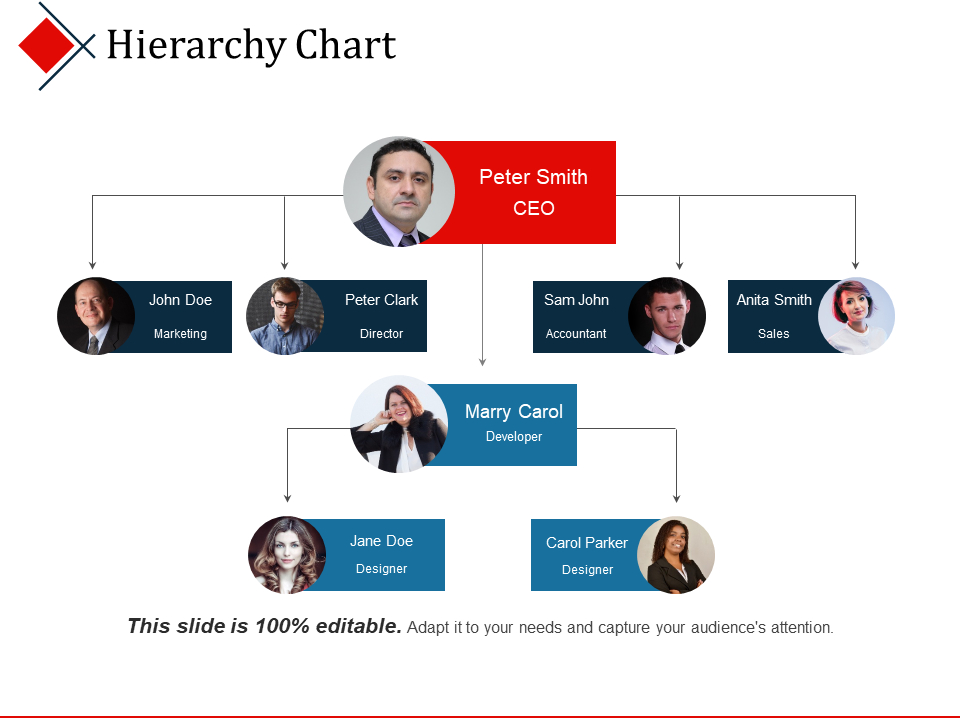 Hierarchy Chart PPT Background Template