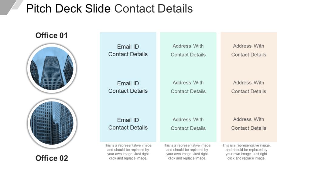 Pitch Deck Contact Details PPT Slide