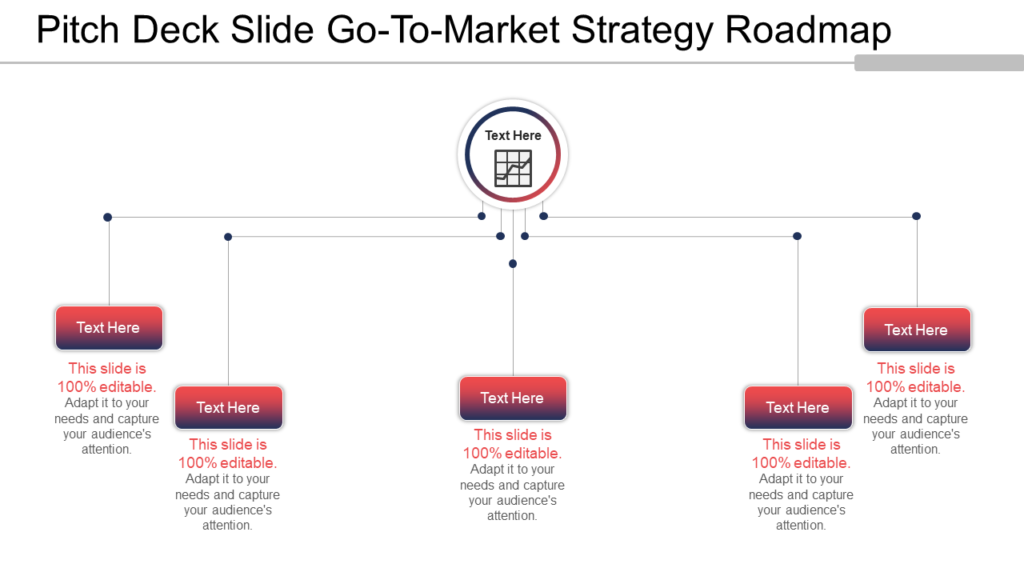 Pitch Deck Go-To-Market Strategy Road map PowerPoint Template