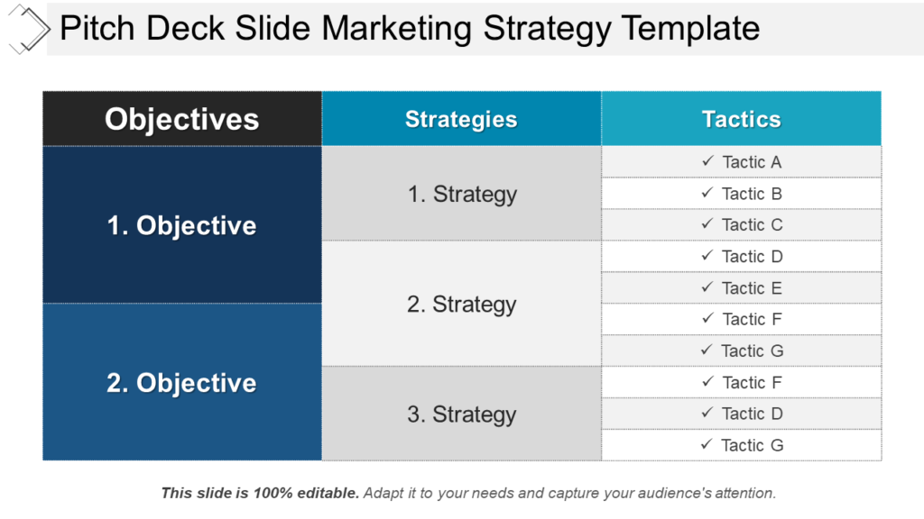 Pitch Deck PowerPoint Template for Marketing Strategies