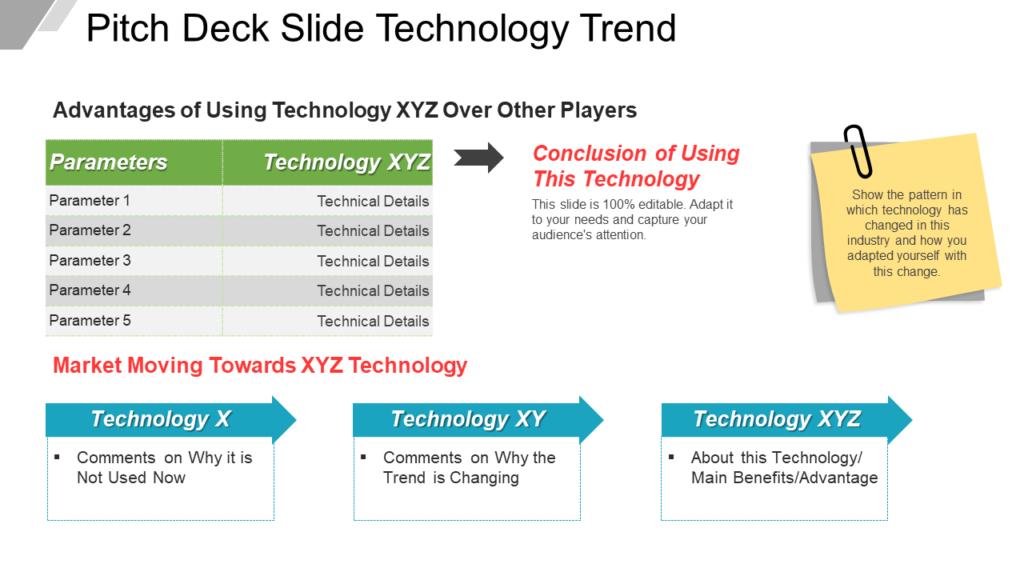 Pitch Deck Slide Technology Trend