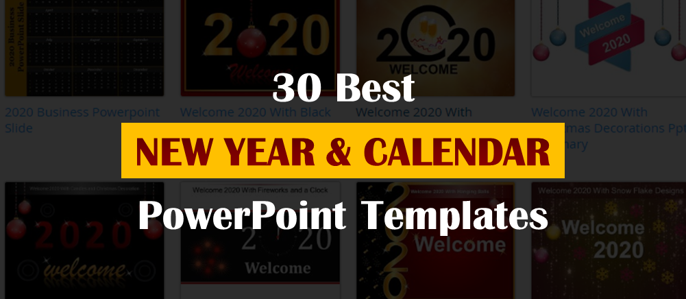 30 Best New Year And Calendar Templates To Kick Off 2020