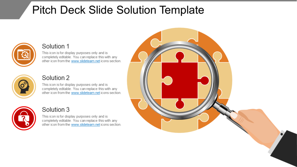 Solution PPT Template for Pitch Deck